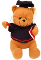 Tokenz Teddy With Master's Degree Bears  - 14 Inch (Brown, Black)
