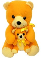 Tokenz A Sweet Pair Teddy Bears  - 13 Inch (Yellow, Brown)