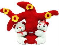 Tokenz Love Tree : Teddy Bears  - 9 Inch (Red, White)