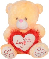 Atorakushon Cute Soft Musical Lighting Love Teddy Bear  - 30 Cm (Multicolor)