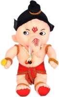 Fullmoon Ganesh  - 16 Inch (Cream, Red)