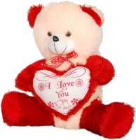 Ktkashish Toys Kashish Cream & Red Teddy Bear  - 21 Inch (Red)