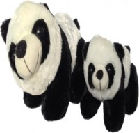 SCG Cute Kung Fu Panda Mom(30 Cm) & Kid (20 Cm)  - 30 Cm (White, Black)