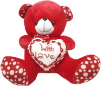 Lotus Teddy Bear With Love Of Heart  - 18 Inch (Red)