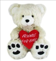 Play N Pets Cute Teddy Bear With Heart - Friends Forever - 55 Cm (White)