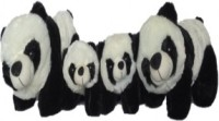 SCG Cute Kung Fu PandaParent(30 Cm) & 2 Kid (20 Cm)  - 30 Cm (White, Black)