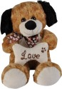 Soft Buddies Bone Dog  - 10 Inch - Brown