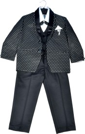 HEYBABY Coat Suit with Blaizer Polka Print Boy's Suit