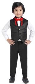 Jeet Shirt, Waistcoat and Pant Set Self Design Boy's Suit