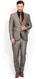 Blackberrys Single Breasted Solid Men's Suit
