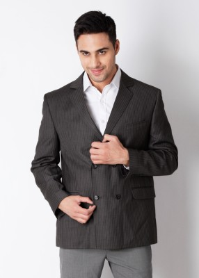 Belmonte Belmonte Double-Breasted Striped Men's Suit (Multicolor)