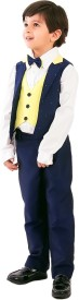 KIDOLOGY Waist Coat Set Solid Boy's Suit