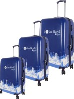 Moladz Air World-Combo Three Pcs Check-in Luggage - 0 Blue