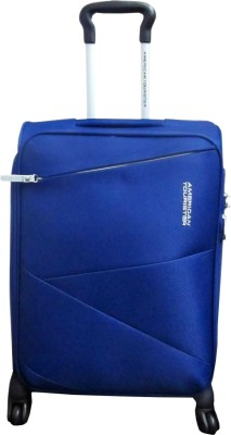 American Tourister Zen Spinner Cabin Luggage   21.6 inch Navy Blue available at Flipkart for Rs.3240