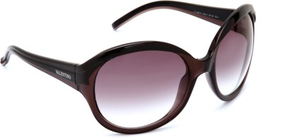 Valentino Valentino Round Sunglasses (Brown)