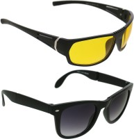 Vast Combo Of Day & Night Vision Wrap Around Sports Sunglasses Yellow - SGLEK25CHSZQQ4YZ