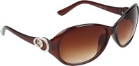 Zyaden Oval Sunglasses Brown