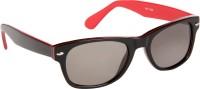 Cristiano Ronnie Black With Red Strip Wayfarer Sunglasses Grey