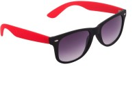 Agera Black & Red Wayfarer Sunglasses