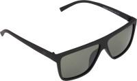 Panache Matte Black Frame-Green B2 Polarised Lens Wayfarer Sunglasses