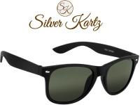 Silver Kartz Luxury Matt Green Wayfarer Sunglasses