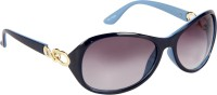 Cristiano Ronnie Blue With Gradient Lenses Oval Sunglasses Blue