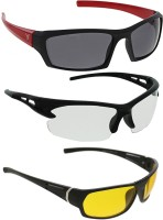 Vast Combo Of Day & Night Vision Wrap Around Sports Sunglasses