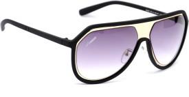 Amaze Medium Black Oval Sunglasses