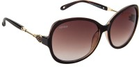 VOYAGE Oval Sunglasses Brown