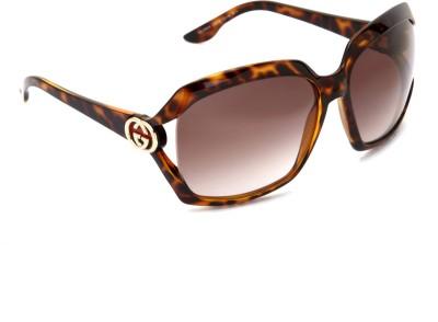 Gucci Gucci Rectangular Sunglasses (Brown)
