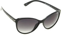IDEE Black Shaded Cat-eye Sunglasses Black