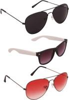 Benour Combo Unisex Aviator, Wayfarer Sunglasses