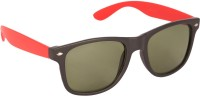 Agera Black & Red Wayfarer Sunglasses Green