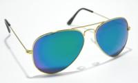 Whoop Premium Mirror Multi Green Aviator Sunglasses