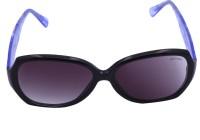 Miami Blues Oval Sunglasses Grey