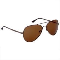Gansta Aviator Sunglasses Brown