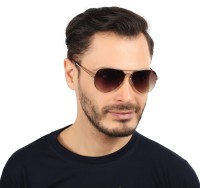 Djorn Exclusive Italian Design Limited Edition Aviator Sunglasses Brown