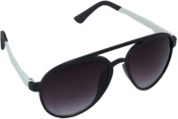 Gansta GN-11068 Black & White Aviator Sunglasses