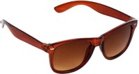 New Zovial Sober Brown Wayfarer Sunglasses