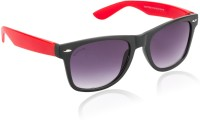 Glitters Stylish Black::Red Wayfarer Sunglasses Black