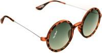 Blue Blink Oval Sunglasses