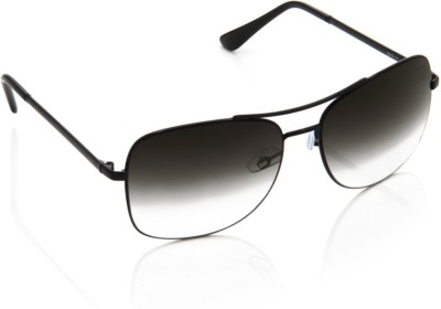 Image Image Rectangular Sunglasses (Black)