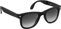 Gant Full Black Glass Folding Frame Wayfarer Sunglasses