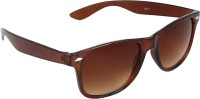 Aligatorr Brown Unisex Wayfarer Sunglasses