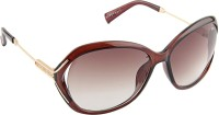 Farenheit Oval Sunglasses Brown