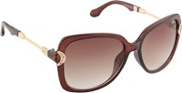 Farenheit Oval Sunglasses Brown - SGLEG4G2ED7VHRHH