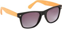 Cristiano Ronnie Matt. Black & Orange Wayfarer Sunglasses Grey