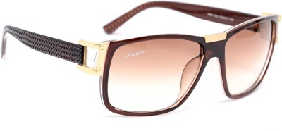 Amaze Medium Brown Oval Sunglasses Brown