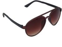 Gansta GN-11068 Brown Aviator Sunglasses