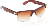 Glitters Stylish Brown Wayfarer Sunglasses
